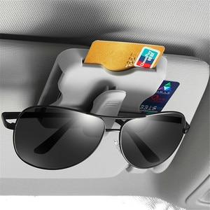 Автомобильный Органайзер солнцезащитный держатель для Карт Зажим для очков для Renault Alaskan Trezor Talisman Kwid Espace Kangoo EZ-GO Captur Arkana Zoe