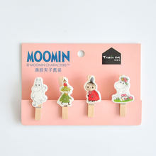 Creative Moomin Series Wooden Photo Clip with Hemp Rope Wall Decoration Message Clip Wedding Decoracion De Fiestas Y Eventos(China)