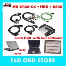Авто Диагностический MB STAR SD C4 V12. программное обеспечение в HDD и D630 PC диагностический сканер инструмент Mb star C4 для автомобиля/грузовика готов к использованию