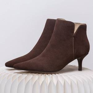 Image 2 - Superstar Botines de piel auténtica con punta en pico para mujer, botines de tacón alto, clásicos de pasarela, para invierno, L97, 2020