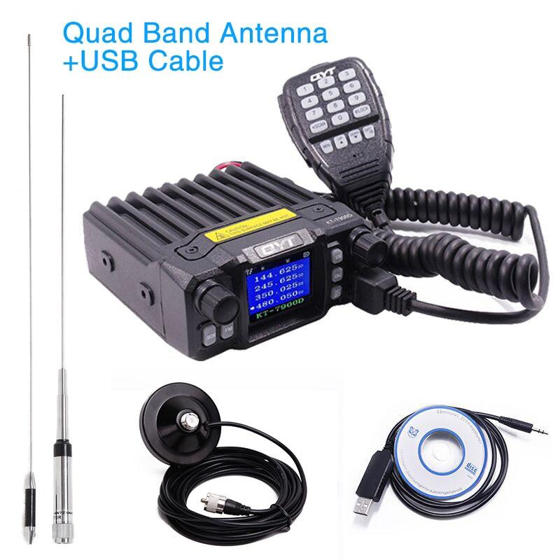 QYT KT-7900D 25 w Quadri-Bande Mobile de Voiture Radio Bidirectionnelle Talkie-walkie KT7900D 144/220/350/ 440 mhz 4 Bandes KT 7900D Mobile Transicever