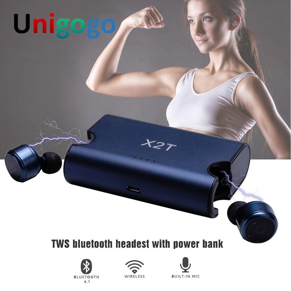 X2T Wahre Drahtlose Kopfhörer in ohr Twins Mini Bluetooth Kopfhörer cordless Earbuds headset kulakl k für handy