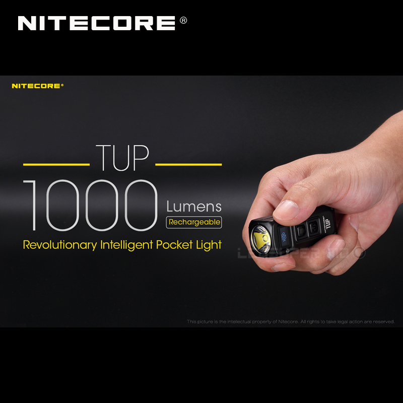 New Arrival NITECORE TUP CREE XP-L HD V6 LED 1000 Lumens Revolutionary Intelligent Rechargeable Pocket Light