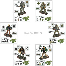 hot LegoINGlys military WW2 Jungle counter terrorism war building blocks mini army weapons figures MOC model bricks toys gift