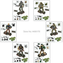 hot LegoINGlys military WW2 Jungle counter terrorism war building blocks mini army weapons figures MOC model bricks toys gift(China)