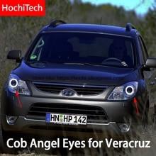 For Hyundai veracruz ix55 2007-2012 COB Led day Light White Halo Cob Led Angel Eyes Ring Error Free Ultra bright