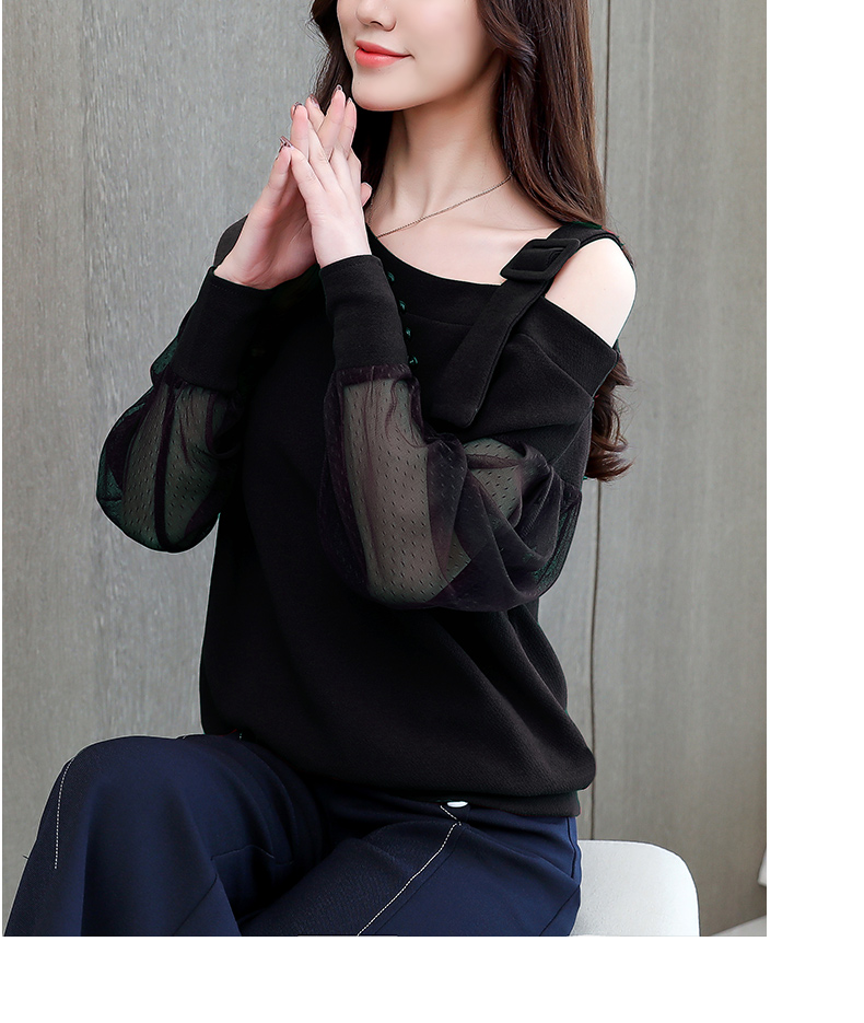 2019 Spring New Long Sleeve Shirt Women Fashion Woman Blouses Sexy Off Shoulder Top Solid Women Blouse Shirt Clothing Female (8)