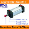 SC40 Standard Air Cylinders Valve Magnet Bore 40mm Strock 25mm To 300mm Stroke Single Rod Double