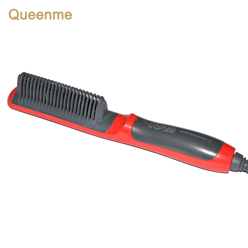 Queenme Professional Fast Hair Straightener Brush Electric Hair Straightening Comb Styling Tools Flat Iron Detangling Hair Brush led display 2 in 1 ceramic hair straightener comb hair curler roller electric detangling hair straightening flat iron hair brush