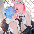 OHCOS Top quality ! cartoon Life in a different world from zero Rem Ram Cosplay Wig Cheap Wigs