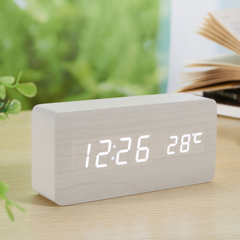 LED-Wecker aus Holzplatine + Temperaturthermometer Digitale - Wohnkultur - Foto 6