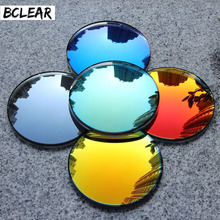 BCLEAR 1.49 chỉ số Thời Trang Đầy Màu Sắc Không phân cực UV400 Gương Gương Phản Chiếu Kính Mát Ống Kính Theo Toa Cận Thị Ống Kính Kính Mát