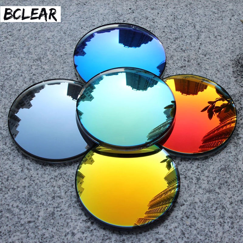 BCLEAR 1.49 index Fashion Colorful Non-polarized  UV400 Mirror Reflective Sunglasses Prescription Lenses Myopia Sunglasses Lens
