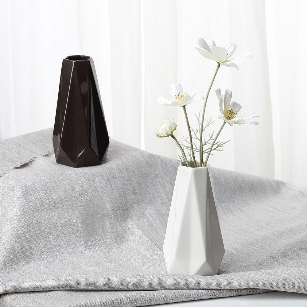 the edges  corners vases ceramic white black tabletop vase home  - the edges  corners vases ceramic white black tabletop vase home decorationvase fashion modern vasesin vases from home  garden on aliexpresscom