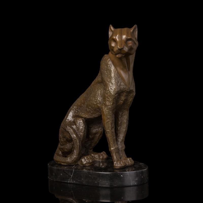 Modern Home Decoration Abstract Cheetah Bronze Statue ...
