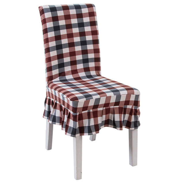 Tartan Dining Chair Covers For Sale Swivel Patio Gztzmy Cover Room Spandex Elastic Weddings White China Hotel Table