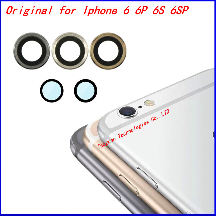 sale retailer c7797 a9b80 XGE New Sapphire Crystal Back Camera Glass Lens Camera Lens with Frame  replacement for iPhone 6S 6GS 4.7 inch iphone6S