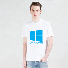 printed Windows Google T-shirts Personality Microsoft t shirt Funny Short Sleeve Internet explorer men Tshirts 2016 New Fashion