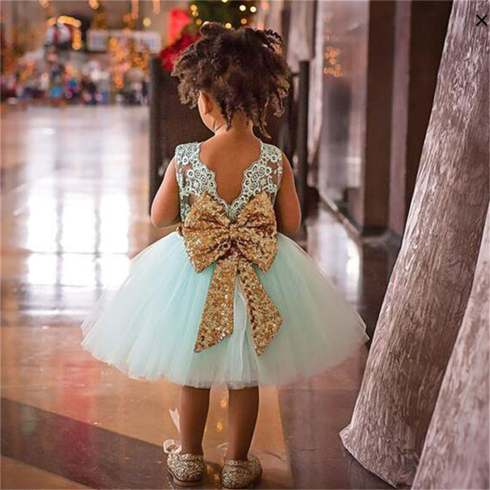 Holiday Costume Christmas New Year Dresses Kids Floral Cosplay Party For Girls