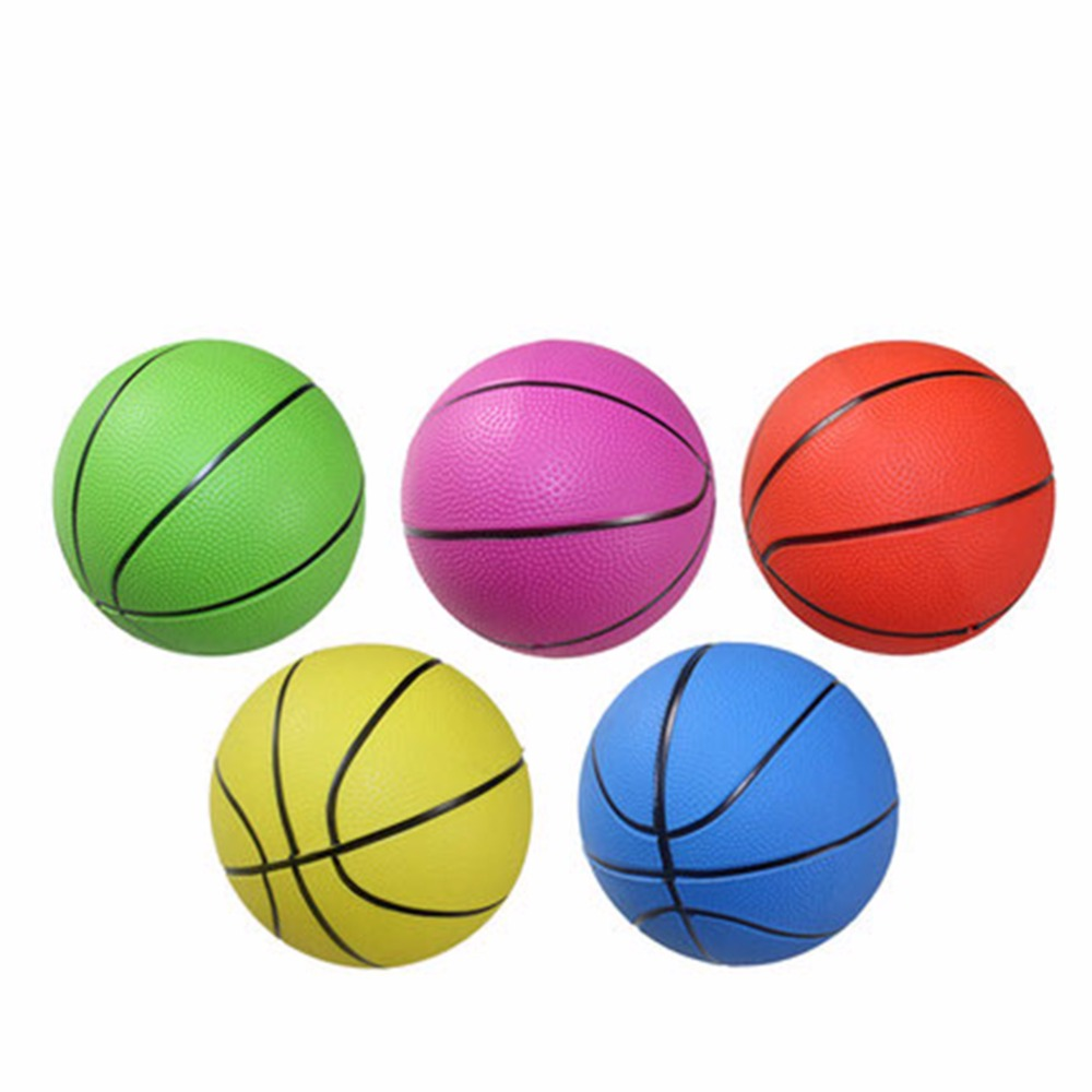 1Pc Exercise Ball Inflatable PVC Basketball Volleyball Beach Ball Kid Adult Sports Toy Mixed Sizes 10cm/15cm/20cm Random Color