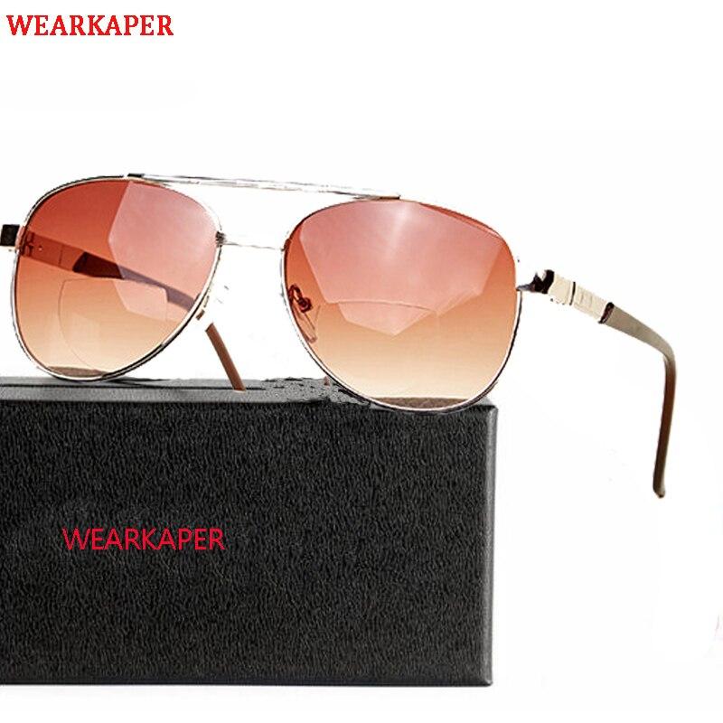 c1b76c0e75 WEARKAPER Bifocal Reading Glasses Unisex Diopter Far Near Glasses Male  Polarized Sunglasses Presbyopic Eyeglasses 1.0-4.0