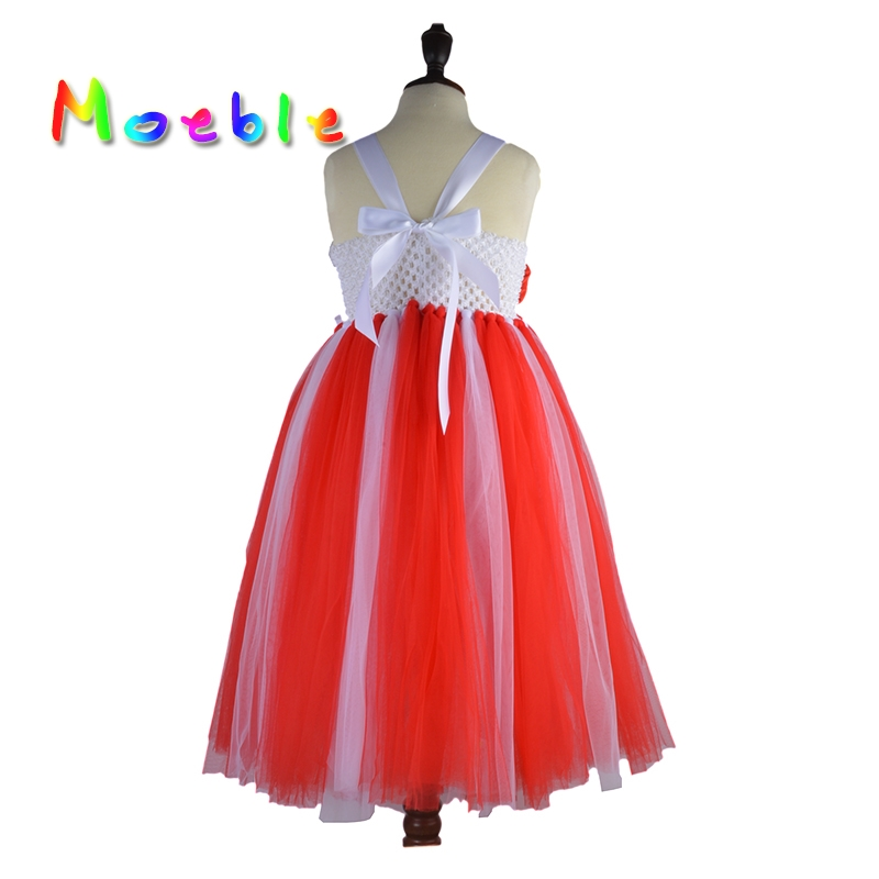 e5456dc1d Red Rose Flowers Girls Valentine's Day Tutu Dress Little Girls Holiday Gifts  Girl Fluffy Tulle Tutu Dress Evening Ball Gown-in Dresses from Mother & Kids  on ...
