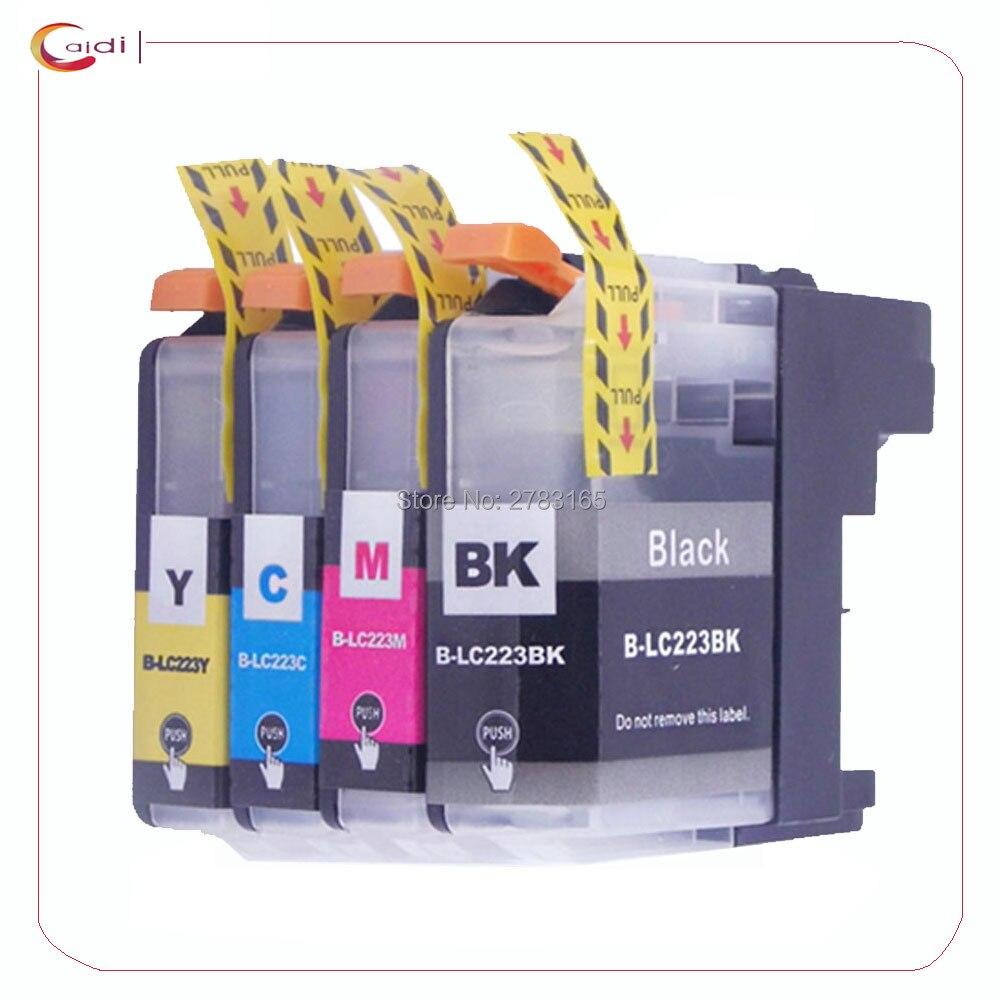 4 шт., картриджи для принтера, совместимые с LC223