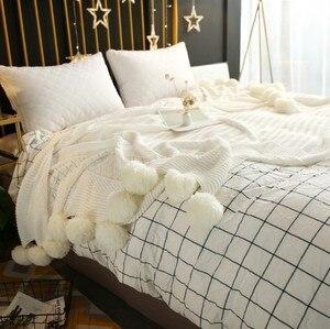 Image 2 - CAMMITEVER mantas de hilo de ganchillo 100% de algodón para bebés, adultos, cama de doble tamaño