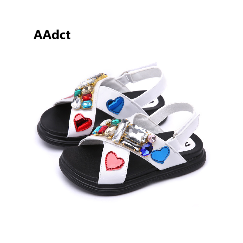 AAdct 2018 summer Rome girls sandals Big Rhinestone soft sole kids sandals for girls Brand High-quality casual children shoes usb flash drive 64gb elari smartdrive usb 3 0