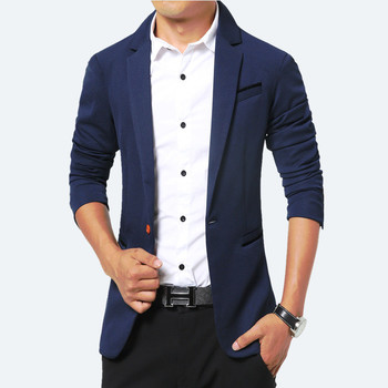 Thin Casual Men Blazer Cotton Slim England Suit Blazers