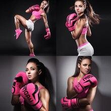 Women Boxing Gloves PU Foam Adult Kids Kick Kickboxing Training Boxing MMA Gloves Muay Thai Boxer Boxe De Luva Mitts Gloves