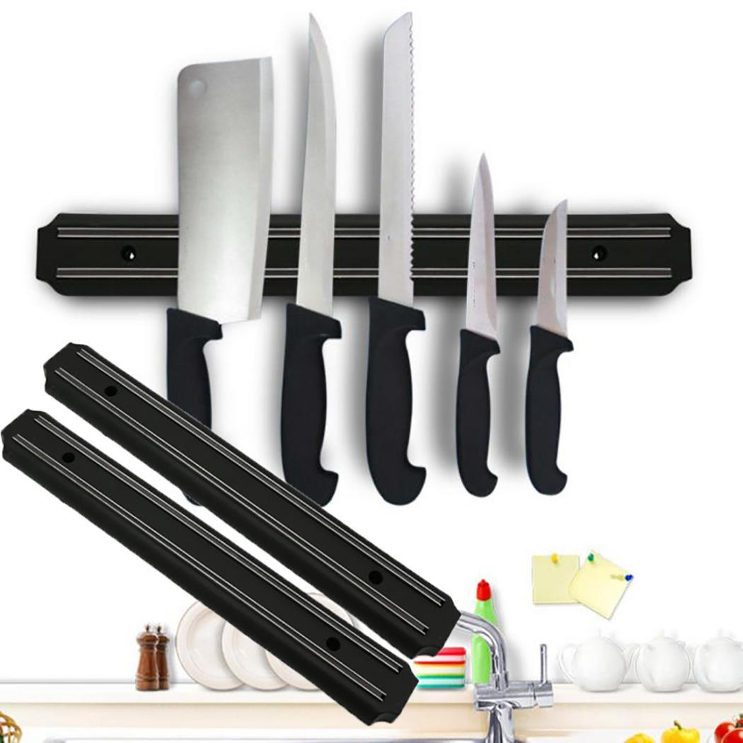 Magnetic Knife Holder Knives Organizer Wall Mount Black 4.8cm/1.9inch Knife Stand Modern Kitchen Tools