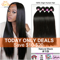 8a Peruvian Virgin Hair Straight 4 Bundles Unprocessed Peruvian Straight Virgin Hair Human Hair Weave Puruvian Hair Bundles