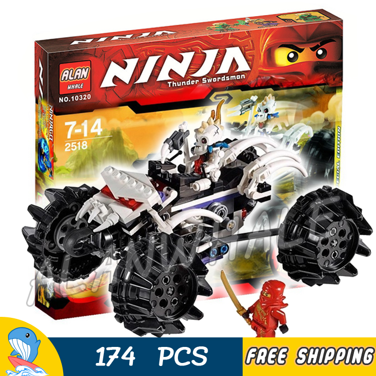 174pcs 2016 Bela 9730 Ninja Nuckal's ATV Building Blocks Model Toys Kai DX boys Bricks Gifts Compatible With Lago image