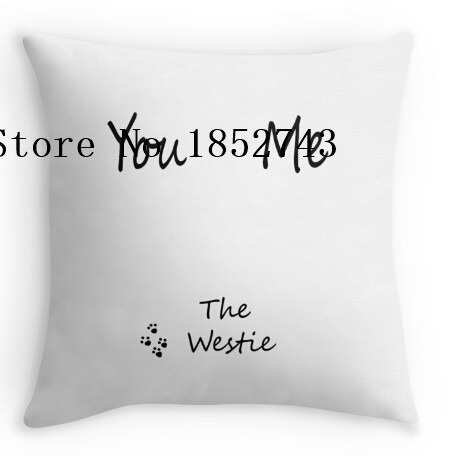Funny You Me The Westie Luxury Print Square Pillow Cases For12 14 16 18 20 24 Inch Free Shipping In Case From Home Garden On