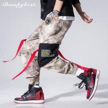 Bumpybeast мужские модные красные штаны-стримеры шаровары, штаны для бега Harajuku спортивные штаны хип-хоп брюки тонкие мужские камуфляжные брюки