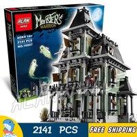 2141 cái Quái Vật Máy Bay Chiến Đấu Ngôi Nhà Ma Ám Vampyre Lâu Đài 16007 Xây Dựng Mô Hình Đồ Chơi Trẻ Em Gạch Movie Tương Thích với Lego