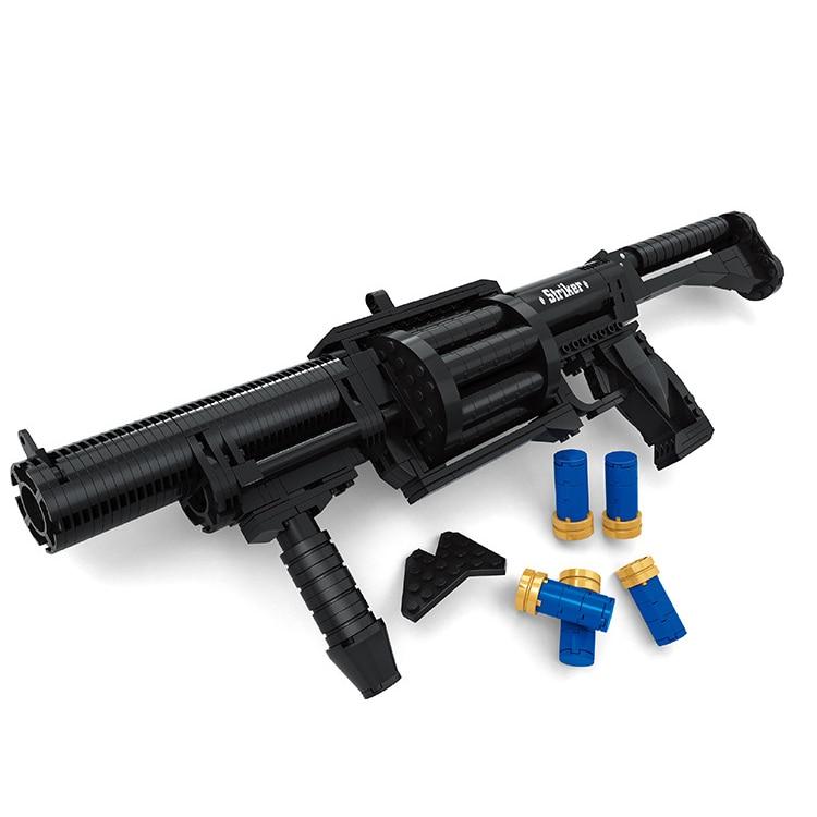 373 PCS DIY High Quality Nerfs Elite Gun Shotgun Toy Gun Model Building Block Set Plastic Toy Gift For Children