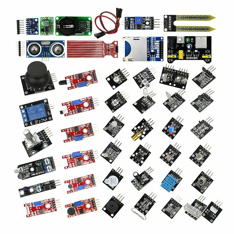 For Arduino Raspberry Pi Robot 45 In 1 Starter Kit Sensor Module W/ Tutorials
