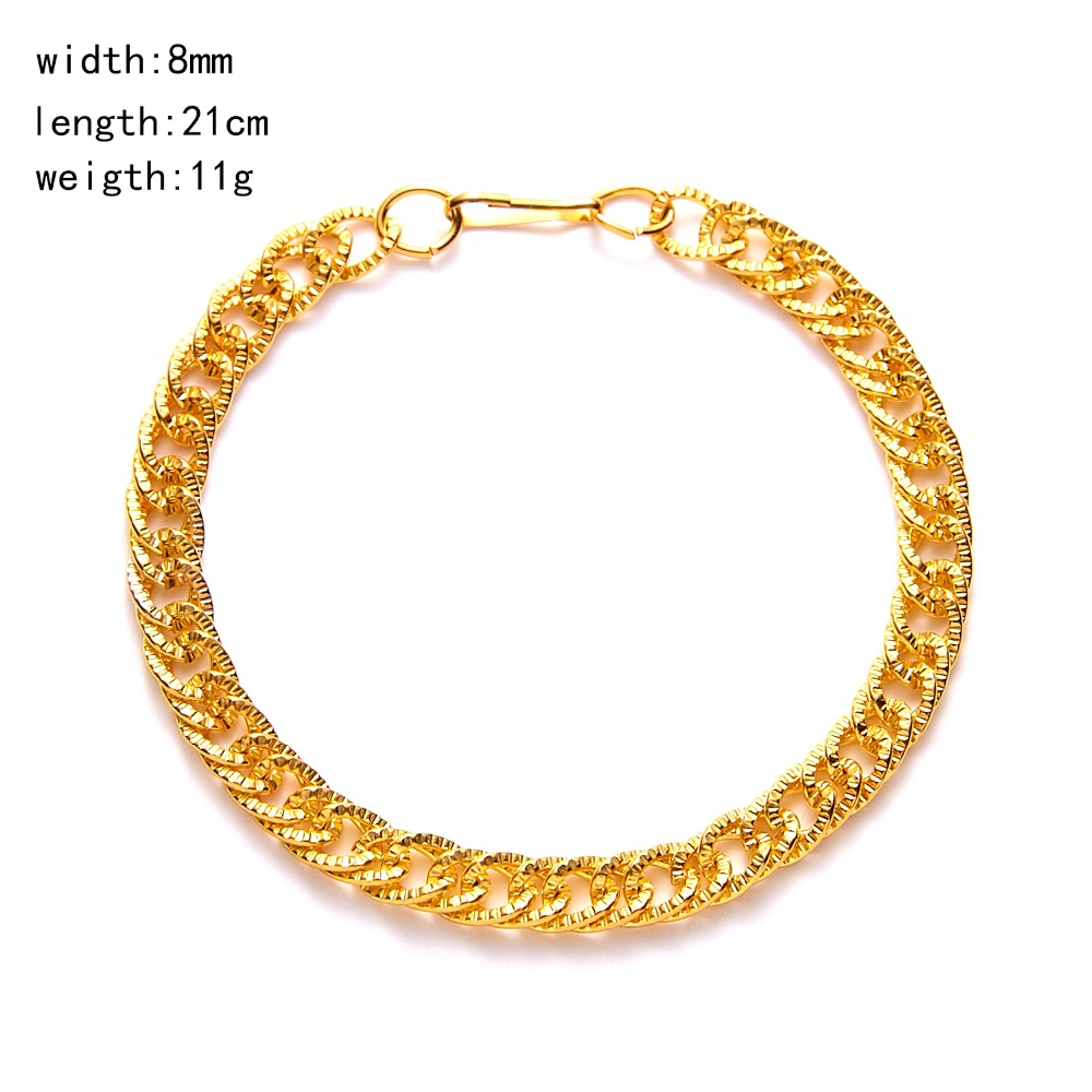 Rinhoo Hyperbole Punk Hip hop Style Gold Charms Circle Link Chain  Bracelet Accessories Gift For Man Neo-Gothic Jewelry Pakistan