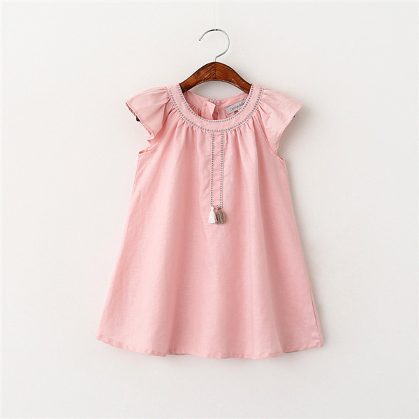 Mayoral Baby Girls Embroidered Dress - Rose