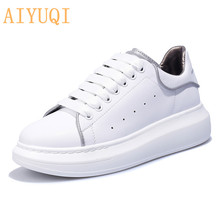 AIYUQI Women sneakers shoes 2019 new spring women genuine leather platform luminous running air