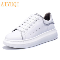 AIYUQI Women sneakers shoes 2019 new spring women sneakers genuine leather platform luminous shoes running women sneakers air