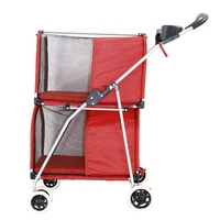 Hot Selling Dog Products Double Layer Pet Stroller Portable Pet Carrier Breathable Puppy Dog Cat Travel