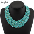 New Arrival Product Hand Made Beaded Statement Necklace,Fashion Multi Chains Twine Women Casual Dress Collar Jewelry
