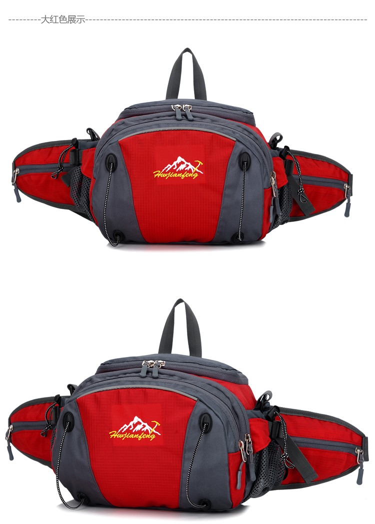 Men Women Sport Waist Bag Pack Backpack With Bottle Holder Outdoor Exploration Travel Casual Cycling Gym Storage Bag Packs (12)