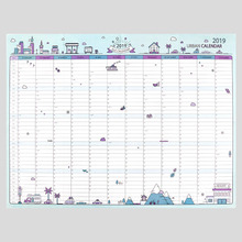 365 Days Wall Calendar 2019 Yearly Paper Planner Daily Plan Memo Notes Study New Year Schedule For School Office Supplies