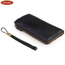 Genuine Cowhide Black Glossy Leather Men Clutch Wallets Card Holders Purse # PR578048A