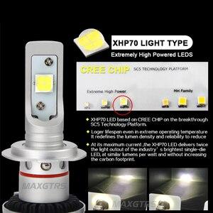 Image 2 - 2x Яркий H7 9005 H8 H11 9012 светодиодный комплект для переоборудования фар, объектив Cree XHP70, чип, длительный срок службы, Белый 72 Вт 6500 к 12000 лм