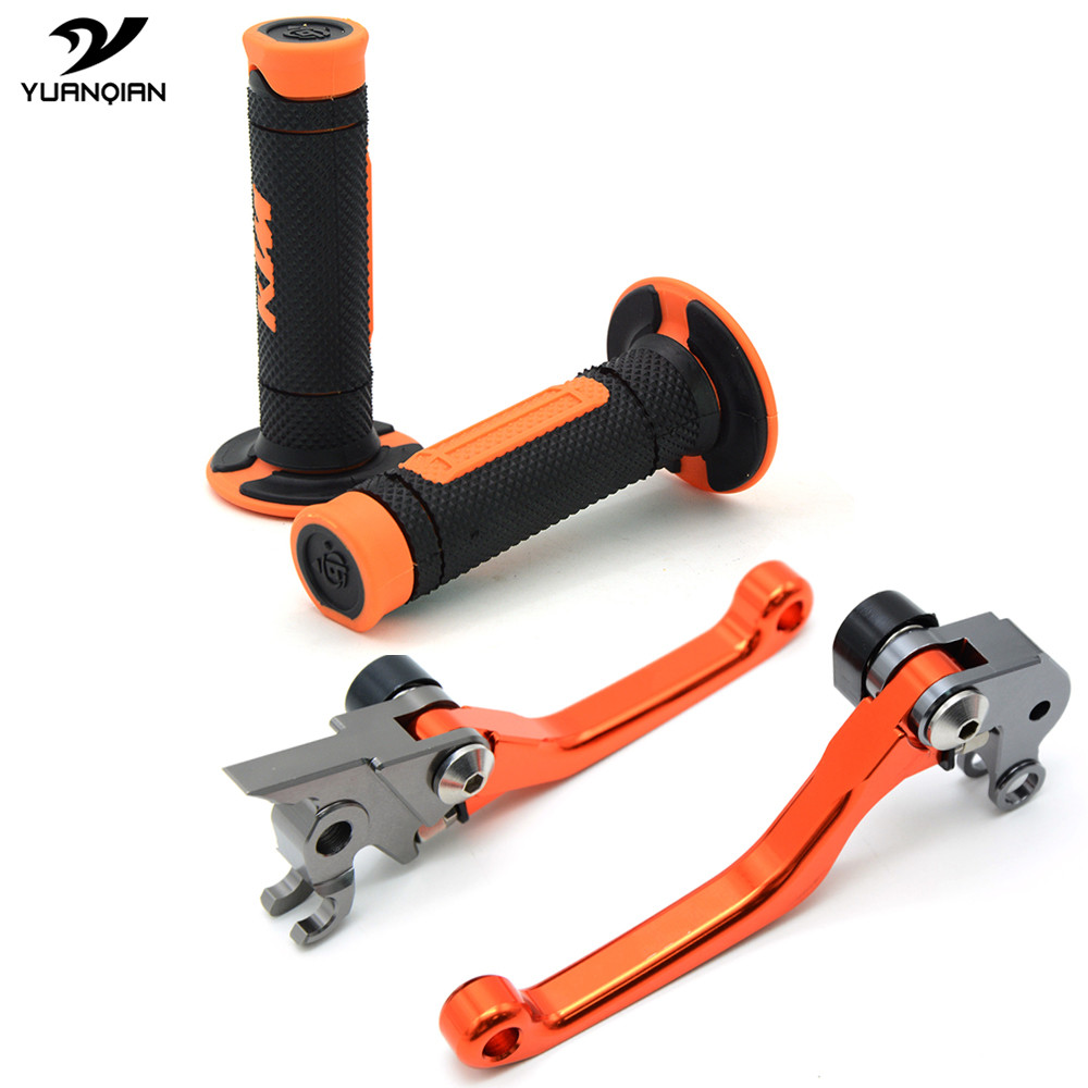 Dirt Mike CNC Pivot Brake Clutch Levers Hand Grips For KTM 530EXC/EXC-R/XCR-W/XC-W 450 XC SX-R SX-F SX 250 125 144 SX 2008-2011 motorcycle front and rear brake pads for ktm exc r450 2008 sx f 450 usd 2003 2008 xc f xcr w 450 2008 black brake disc pad